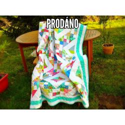 Patchworková blanket/quilt-Happy Day