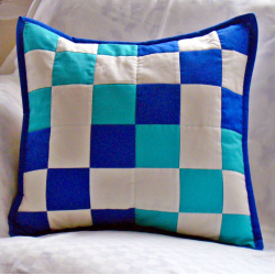 Blue-green cube - pillowcase