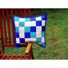 Modrozelená kostka - povlak na polštář