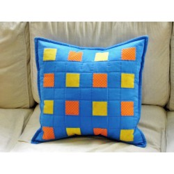 Cube on blue - pillowcase