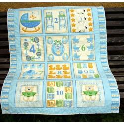 Dětská deka - modrá  - 2