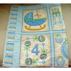 Dětská deka - modrá  - 3