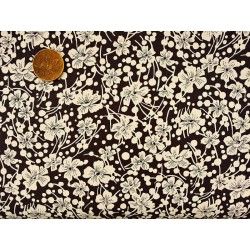 Cotton fabric - T0061 - Black Flowers