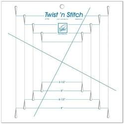 Pravítko na patchworkTwist N Stitch Ruler June Tailor - 1
