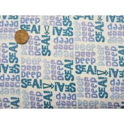 Bavlněná látka - T0083 - White Words STUDIO E - 2
