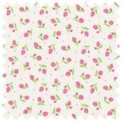 Bavlněná látka - T0076-růžové tulipány Ostatní - 2