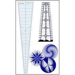 Pravítko na patchwork 10 degree Wedge Ruler 24 in PHILIPS FIBER ART - 1