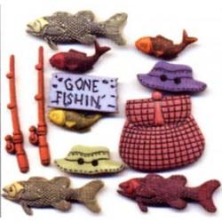 Plastové knoflíčky - Fishing  - 1