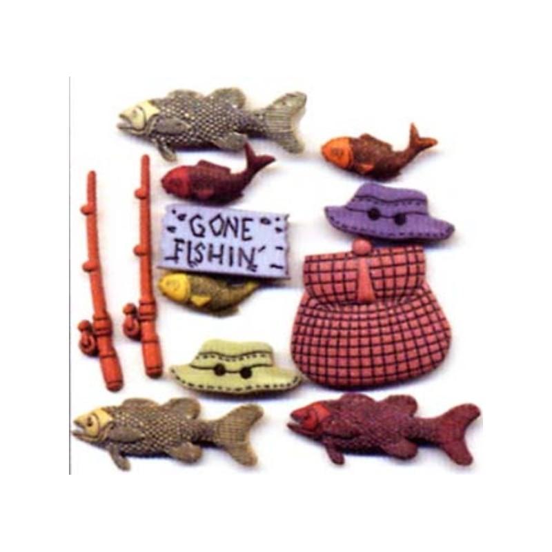 Plastikowe spinki do mankietów - Fishing