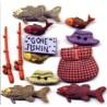 Plastic cufflinks - Fishing