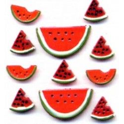 Пластиковые запонки -Watermelon