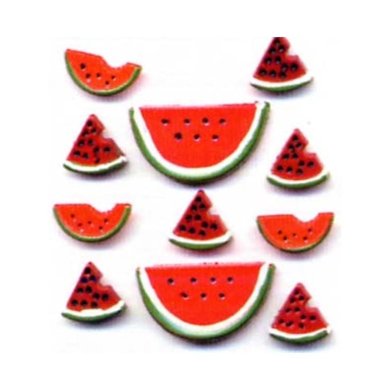 Plastové knoflíčky -Watermelon  - 1