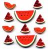 Plastic buttons -Watermelon