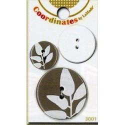 Пластиковые запонки - Coordinates Serenity