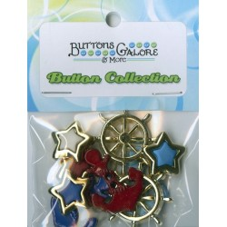 Plastic cufflinks - Anchors Aweigh