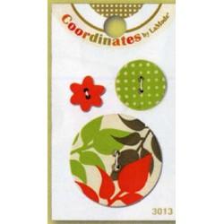 Kunststoff-Manschettenknöpfe - Koordinaten Herbst Blätter