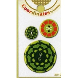 Plastikowe spinki do mankietów - Coordinates Kaleidoscope