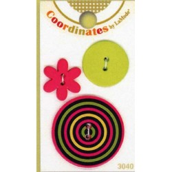 Plastové knoflíčky - Coordinates Hoops  - 1