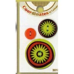 Plastic cufflinks - Coordinates Mod Flower