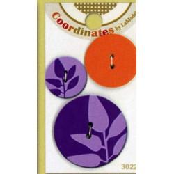 Plastic cufflinks - Coordinates Purple Silhouette
