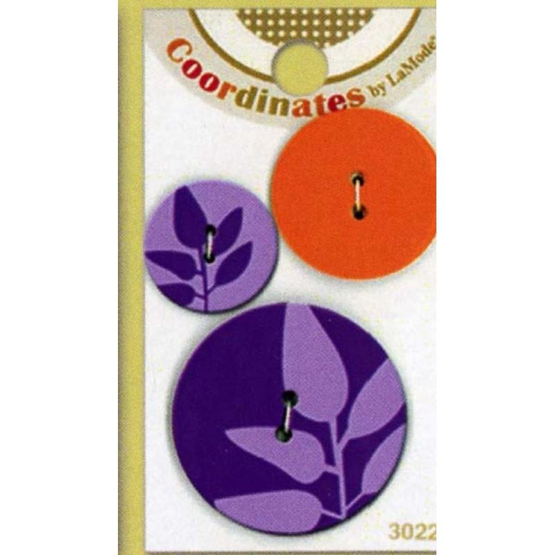Plastové knoflíčky - Coordinates Purple Silhouette