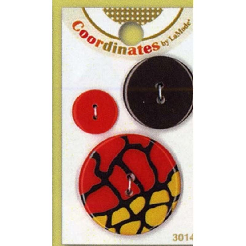 Plastic buttons - Reptile