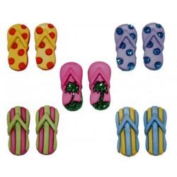 Plastové knoflíčky - Fab Flops  - 1