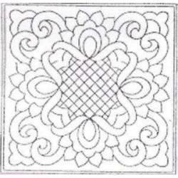 Vorgedruckte Muster-Bänder-Lace & weiß