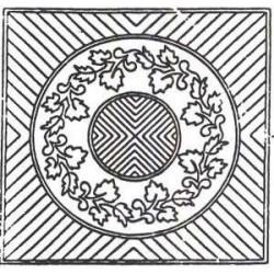 Vorgedruckte Muster -Herbst-Kranz - Natürliche