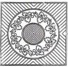 Preprinted pattern -Autumn Wreath - natural