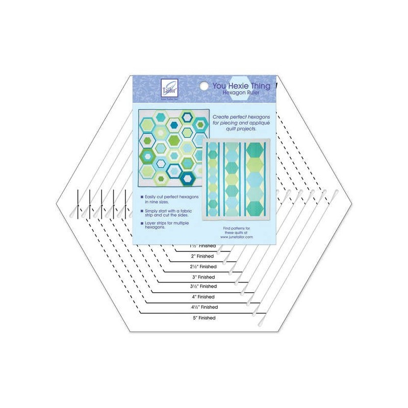 You Hexie Thing Hexagon Ruler-June Tailor June Tailor - 1