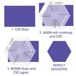 You Hexie Thing Hexagon Ruler-June Tailor June Tailor - 3
