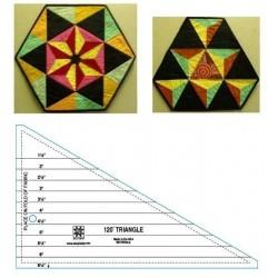 Pravítko na patchwork 120 Degree Triangle Ruler EZ INTERNATIONAL - 1