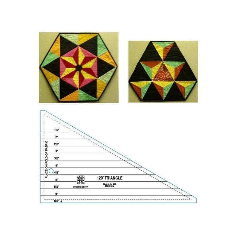 Pravítko na patchwork 120 Degree Triangle Ruler EZ Wrights - 1