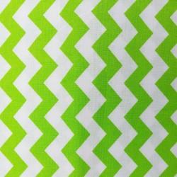 Bavlněná látka T0110 - chevron zelená   - 1