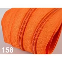 Zip spirálový 5mm metráž POL- oranžová