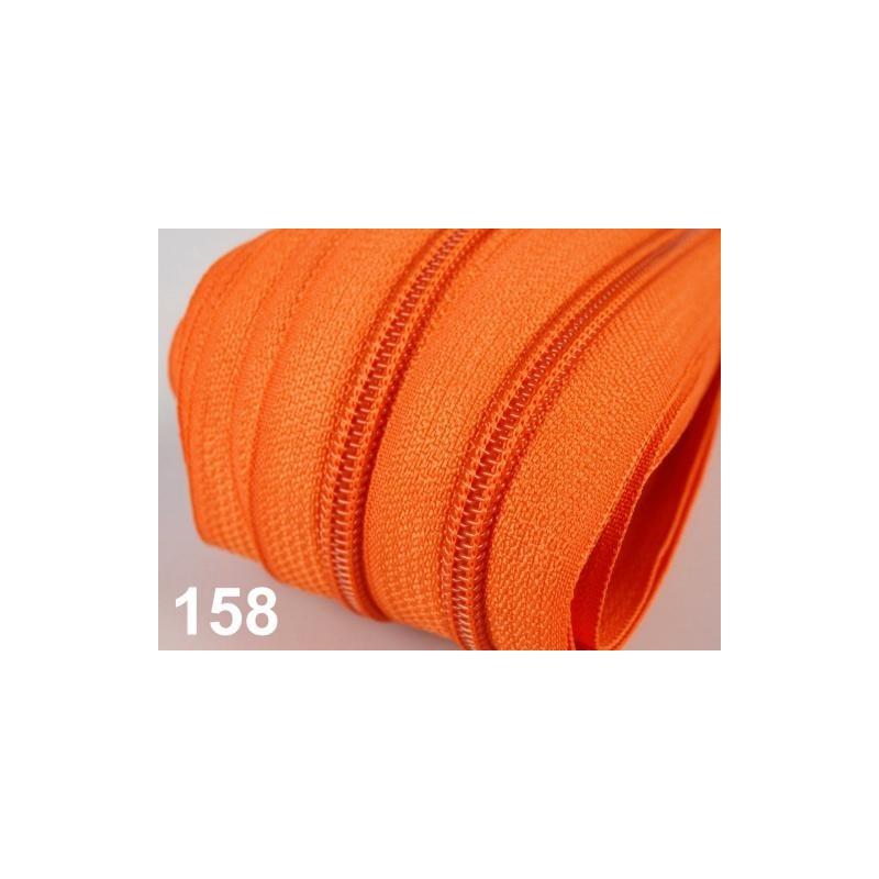 Zip spirálový 5mm metráž POL- oranžová  - 1
