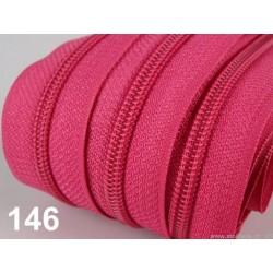 Zip spirálový 5mm metráž POL - růžová  - 1