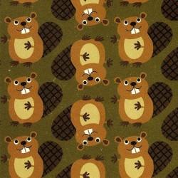 Green Beavers-bavlněná látka