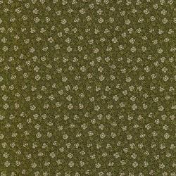 Green Flowers-bavlněná látka