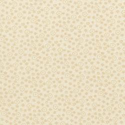 Cream Flora-bavlněná látka