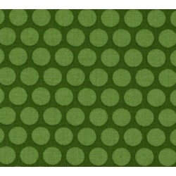TONAL DOTS - GREEN-cotton fabric