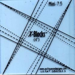 Pravítko na patchwork X Block Tool Mini 7.5 X-BLOCKS BY PATRICIA PEPE - 3
