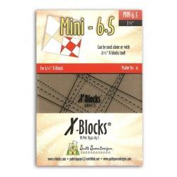 Pravítko na patchwork X Block Tool Mini 6.5 X-BLOCKS BY PATRICIA PEPE - 1