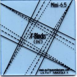 Pravítko na patchwork X Block Tool Mini 6.5 X-BLOCKS BY PATRICIA PEPE - 3