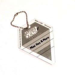 Pravítko Mini Hex N More Keychain Ruler Jaybird Quilts - 1