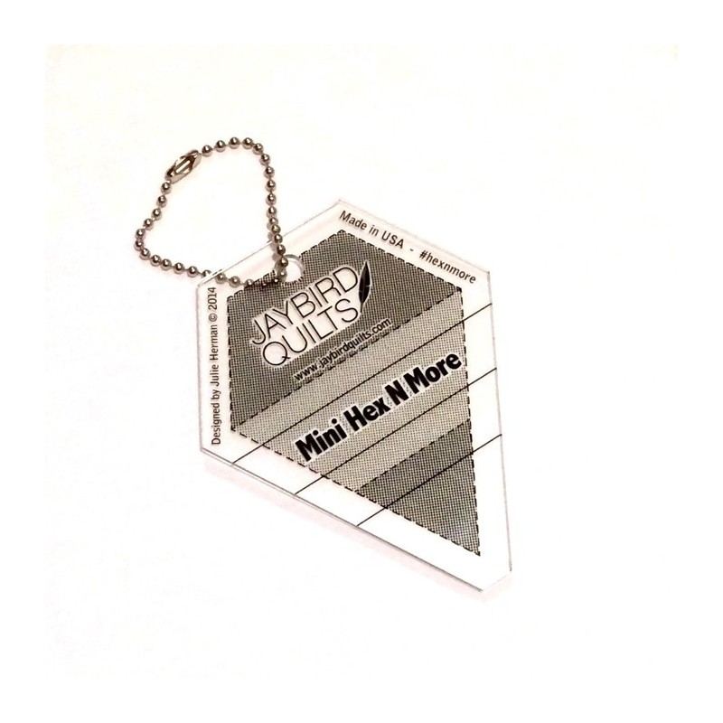 Mini Hex N More Keychain Ruler Jaybird Quilts - 1