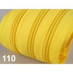 Zip spirálový 5mm metráž POL- žlutá