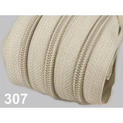 Zip spirálový 5mm metráž POL- béžová  - 1