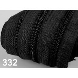Zip spirálový 5mm metráž POL- černá
